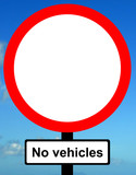 No vehicles except bicycles when being pushed poster