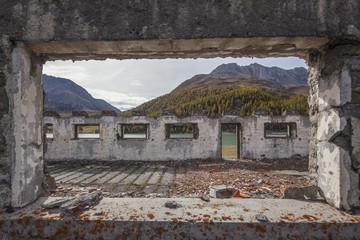 Antico dormitorio per operai della diga