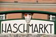 Leinwandbild Motiv Naschmarkt, famous food market in Vienna city centre