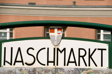 Naschmarkt, famous food market in Vienna city centre