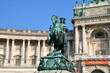 Hofburg Palace and the statue of Emperor Joseph II