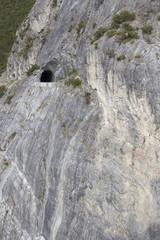 Galleria scavata nella roccia