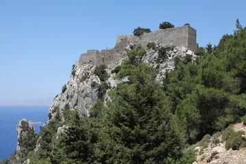 Burgruine Monolithos auf Rhodos, Griechenland