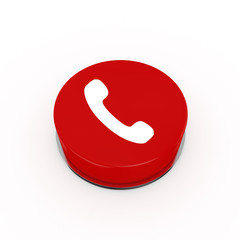 3d Call Web Button - isolated