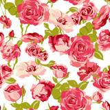 Vintage Seamless Roses Background