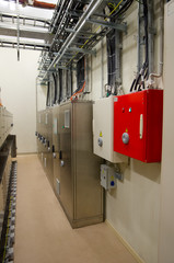 Electric panels in the control room