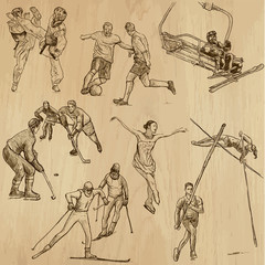 Sport collection no.11 - hand drawn illustrations