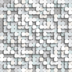 Abstract white and gray background with mosaic.