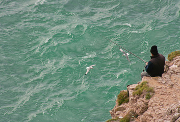 Fisherman in Cape Saint Vicent