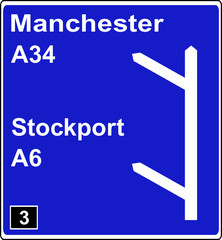 Two junctions in quick succession motorway sign