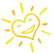 Lachende Herz Sonne