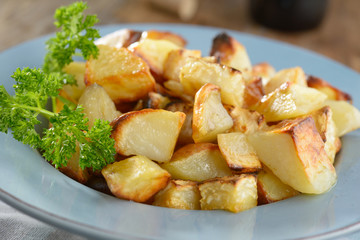 Roasted potato and celery