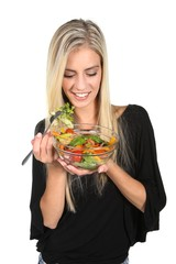 Lovely Woman with Salad