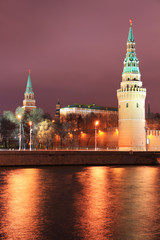 Night view to Moscow Kremlin