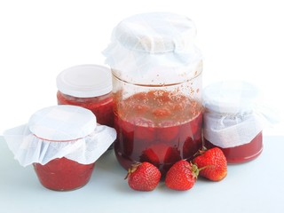 strawberries as jam and compote