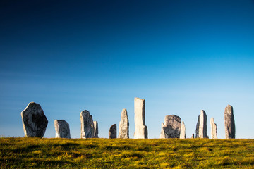standing stones at callinish on the island lewis, scotland, UK