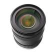 SLR camera lens isolated over white