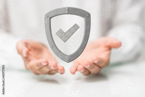 Leinwanddruck Bild safe
