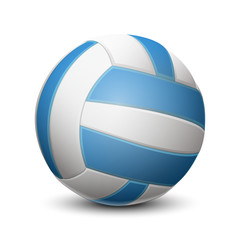 Blue volleyball ball isolated on white background