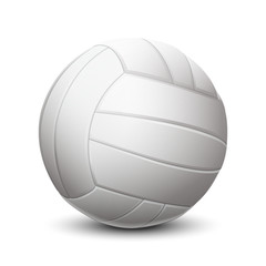 White volleyball ball isolated on white background