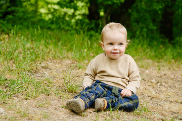 boy on the meadow