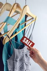 sale tag elegant clothes