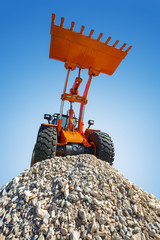 Excavator on the top