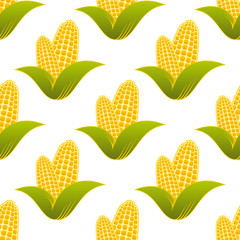 Seamless pattern of fresh corns