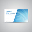 Modern Business-Card Set vector blue