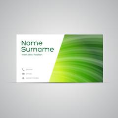 Modern Business-Card Set vector green