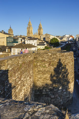 Cathedral and roman wall of Lugo