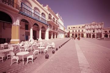 Havana - Plaza Vieja. Cross processed color tone.