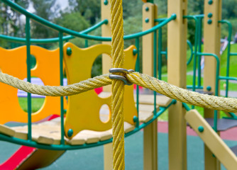 The rope on the playground