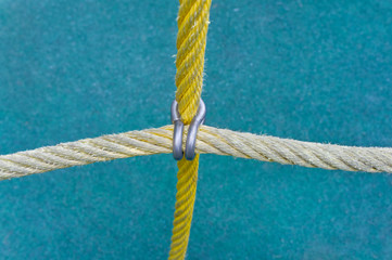 Ropes fastened by a clamp