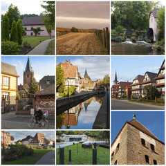Near Wissembourg. Alsacia. France. Collage