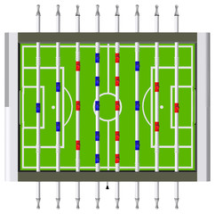 Table Football Soccer Game Vector