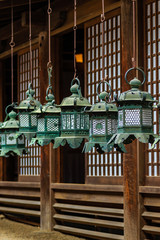 lantern at  Kasuga-taisha shrine , Nara in Japan