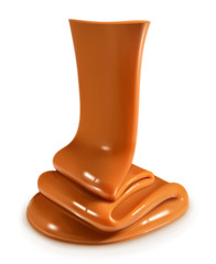 Flow caramel, vector illustration