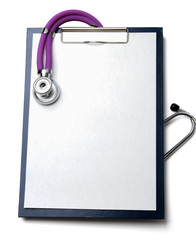 stethoscope on a rx prescription
