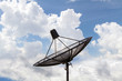 Satellite dish sky communication