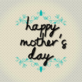 """Typo vector with word """"happy mother's day"""""""