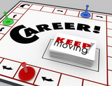 Career Board Game Keep Moving Advancing Promotion poster
