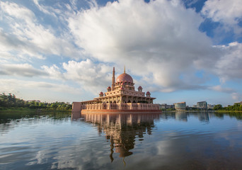 The Putra Mosque in the morning hours, Putrajaya, Malaysia