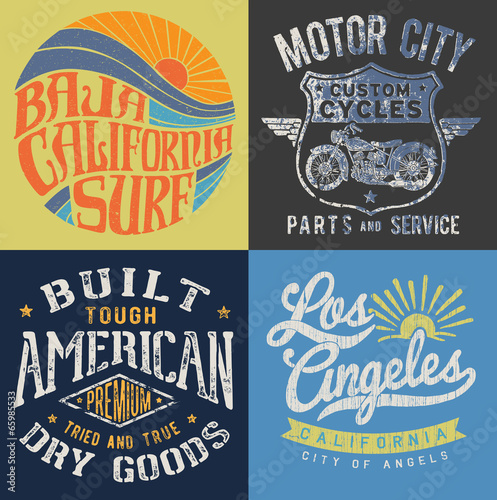 Vintage T-shirt Graphic Set 2