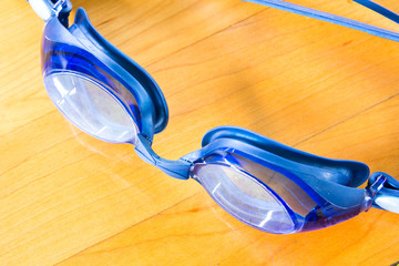 goggles for swimming on the floor