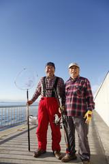 シニアの釣り人