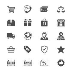 E-commerce flat icons