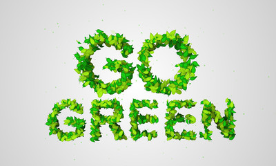 Go Green Leaf Particles 3D