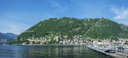 Panoramic view of Como lake, Italy