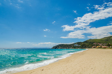 Sandy beach of South coast in Sardinia Island, Italy